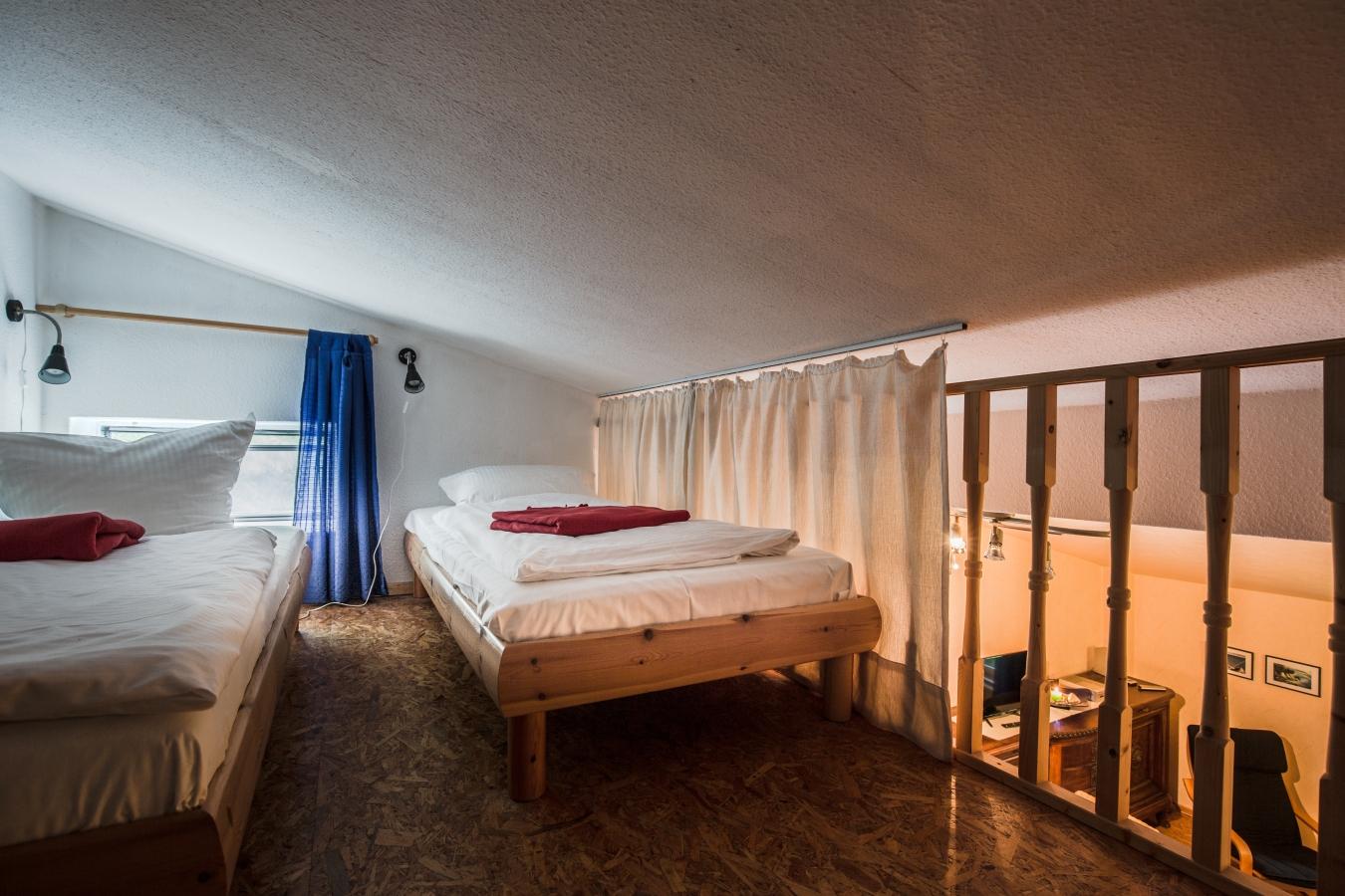 Landhaus Brenner Alt Güstelitz, WE4 Aufenthaltsraum von der Schlafgalerie