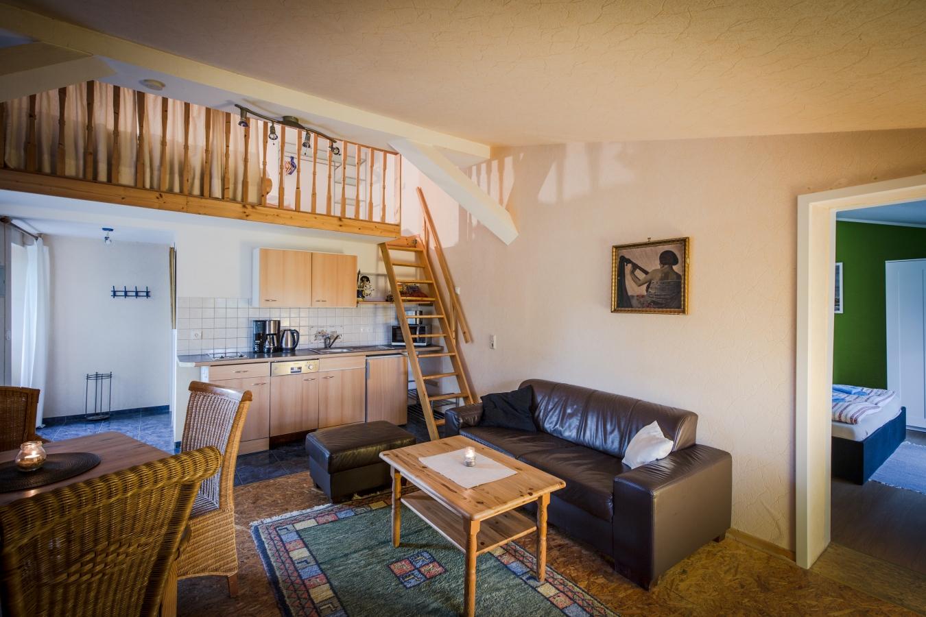 Wohn- und Schlafraum WE 5 Landhaus Brenner Alt Güstelitz