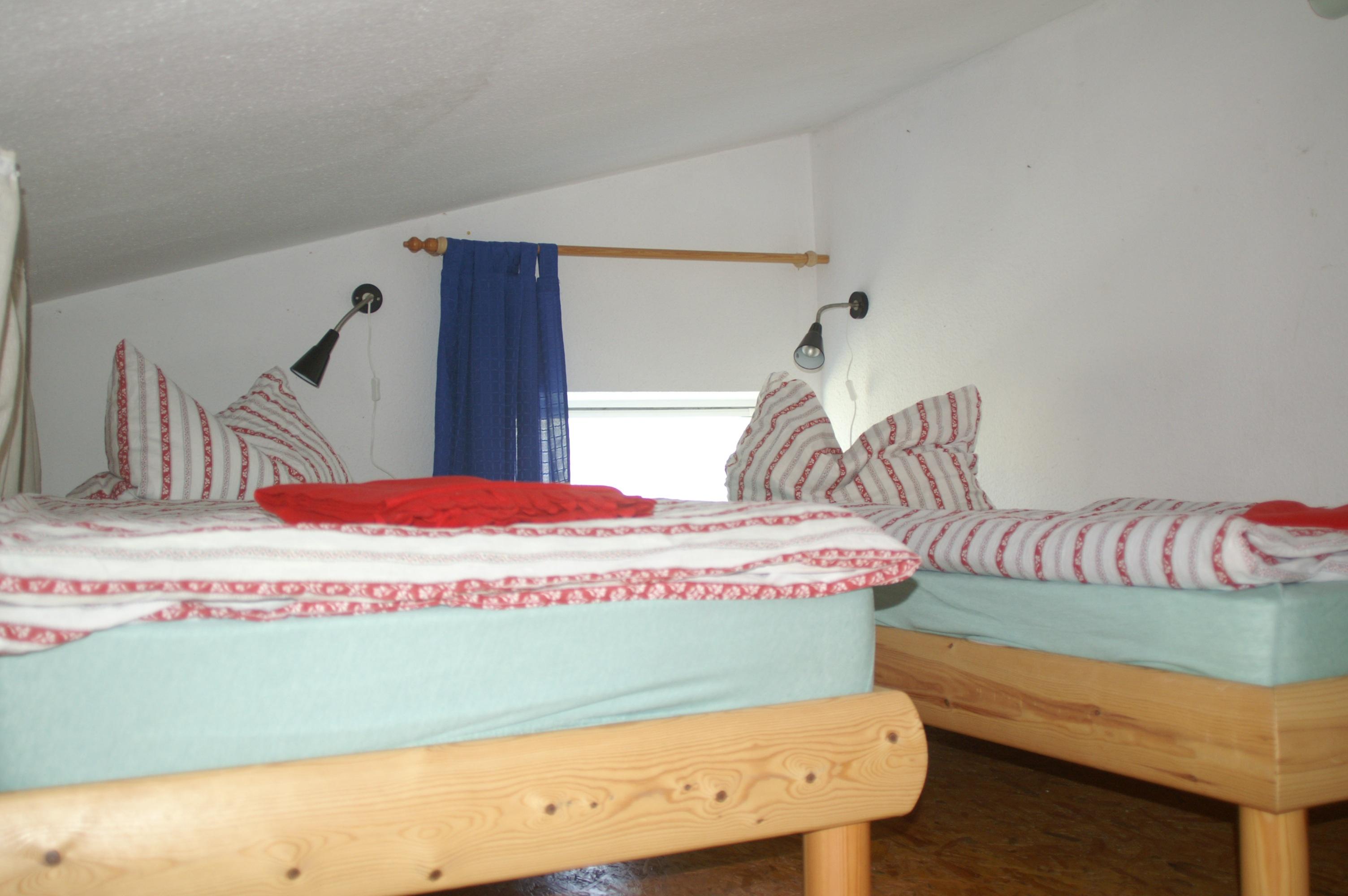 Landhaus Brenner Alt Güstelitz, WE5 Einzelbetten auf Schlafgalerie