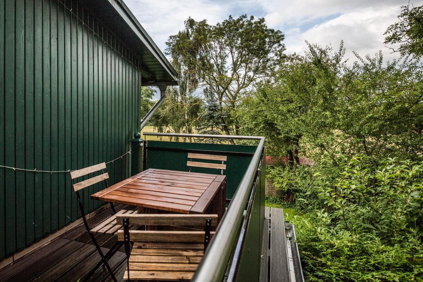 Landhaus Brenner Alt Güstelitz, WE5 Sitzplatz auf dem Balkon